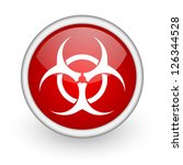 virus red circle web icon on... | Shutterstock . vector #126344528