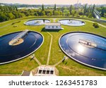 aerial view to sewage... | Shutterstock . vector #1263451783