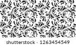 floral seamless pattern. swirls ... | Shutterstock .eps vector #1263454549