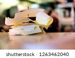 detail of customer orders on...   Shutterstock . vector #1263462040
