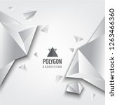 abstract polygon background... | Shutterstock .eps vector #1263466360