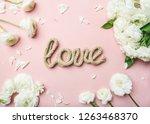saint valentines day background.... | Shutterstock . vector #1263468370