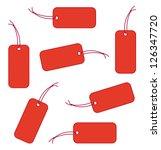 red labels   Shutterstock .eps vector #126347720