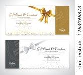 gold glitter gift voucher ... | Shutterstock .eps vector #1263496873