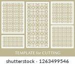 decorative panels set for laser ... | Shutterstock .eps vector #1263499546