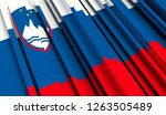 abstract flag of slovenia. 3d... | Shutterstock . vector #1263505489
