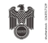 logo of the roman eagle. | Shutterstock . vector #1263517129