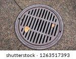 A Metal Manhole Drain Cover...