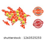 strike action collage of... | Shutterstock .eps vector #1263525253