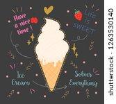 cute typography design. vector. ... | Shutterstock .eps vector #1263530140