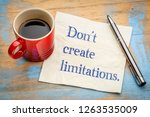 do not create limitations  ... | Shutterstock . vector #1263535009