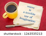 worry is a terrible form of... | Shutterstock . vector #1263535213