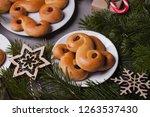 swedish christmas. traditional... | Shutterstock . vector #1263537430