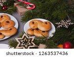 swedish christmas. traditional... | Shutterstock . vector #1263537436