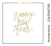 happy new year card  christmas... | Shutterstock .eps vector #1263540700