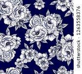 flower print. elegance seamless ...   Shutterstock .eps vector #1263558376