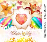 valentine's day card with... | Shutterstock .eps vector #126355889