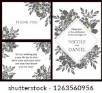 romantic wedding invitation... | Shutterstock . vector #1263560956