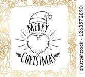 merry christmas. typography....   Shutterstock .eps vector #1263572890