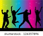 party people dancing | Shutterstock .eps vector #126357896