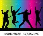party people dancing | Shutterstock .eps vector #126357896