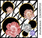 silk scarf design  fashion... | Shutterstock . vector #1263585910