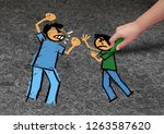 concept of bullying and a...   Shutterstock . vector #1263587620