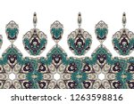 seamless border with beautiful... | Shutterstock .eps vector #1263598816