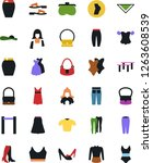 vector icon set   cleaner woman ... | Shutterstock .eps vector #1263608539