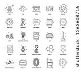 25 business concept mix line... | Shutterstock .eps vector #1263608716
