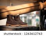 men s brown boot with nabuck... | Shutterstock . vector #1263612763