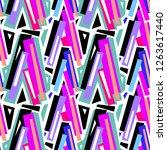 seamless urban funky geometric ... | Shutterstock . vector #1263617440