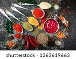 spices and seasonings on the...   Shutterstock . vector #1263619663