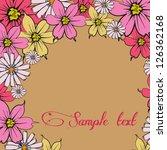 floral illustration | Shutterstock .eps vector #126362168