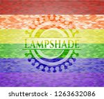 lampshade on mosaic background... | Shutterstock .eps vector #1263632086