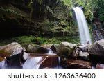 mahua waterfall is a plunge... | Shutterstock . vector #1263636400
