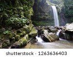mahua waterfall is a plunge... | Shutterstock . vector #1263636403