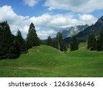 alpine landscape of lutisalp...   Shutterstock . vector #1263636646