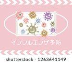 flu prevention vector poster.... | Shutterstock .eps vector #1263641149