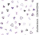 light purple  pink vector... | Shutterstock .eps vector #1263642046