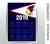 calendar 2019 american samoa...   Shutterstock .eps vector #1263649816