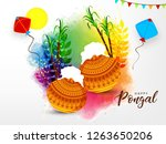 south indian tamil festival... | Shutterstock .eps vector #1263650206