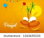 south indian tamil festival... | Shutterstock .eps vector #1263650233