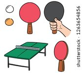 vector set of table tennis | Shutterstock .eps vector #1263654856