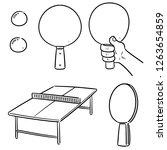 vector set of table tennis   Shutterstock .eps vector #1263654859