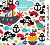 seamless retro pirates... | Shutterstock .eps vector #126366266