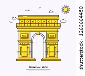 triumphal arch monument poster... | Shutterstock .eps vector #1263664450