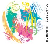 abstract colorful scribble and... | Shutterstock .eps vector #1263678400