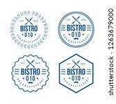 bar or restaurant logo concept | Shutterstock .eps vector #1263679000