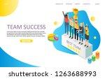 team success landing page... | Shutterstock . vector #1263688993
